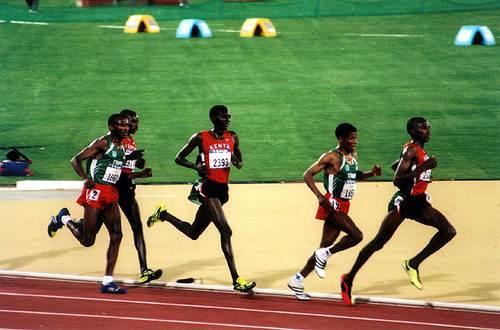 Final dos 10.000 metros na olimpíadas em 2000.