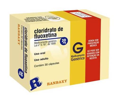 Caixa de Fluoxetina.