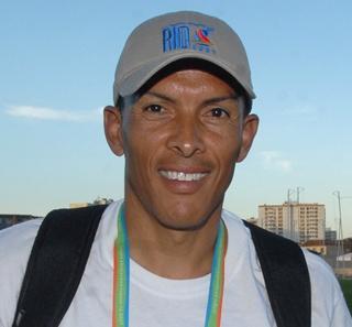 Joaquim Cruz prestigia o Pan de 2007. (Marcello Casal Jr/ABr)